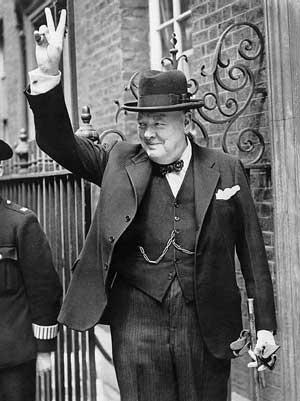 Churchill während des Krieges