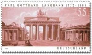 Sondermarke Carl Gotthard Langhans