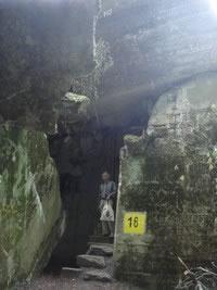 Überreste der Wolfsschanze bei Rastenburg in Ostpreußen